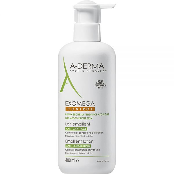 A-derma Exomega Control Lotion 400 ml bodylotion for irritert hud, Apotekfordeg, 967827