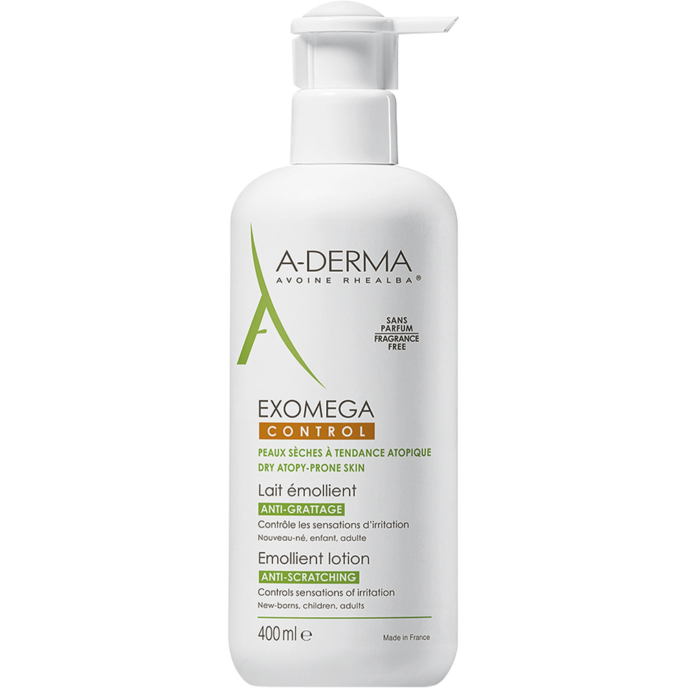 A-derma Exomega Control Lotion 400 ml bodylotion for irritert hud, Apotekfordeg, 967827
