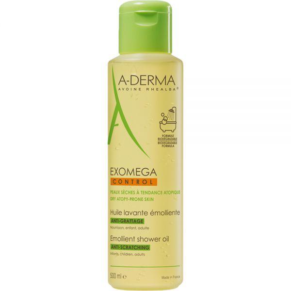 A-derma Exomega Control Shower Oil 500 ml for tørr og atopisk hud, Apotekfordeg, 853914