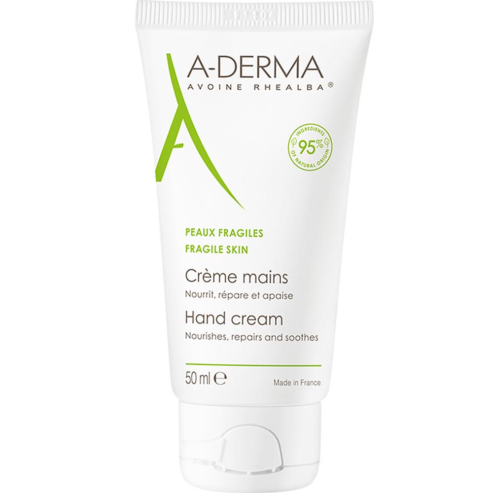 A-derma Hand Cream 50 ml for tørre og sprukne hender, Apotekfordeg, 915007