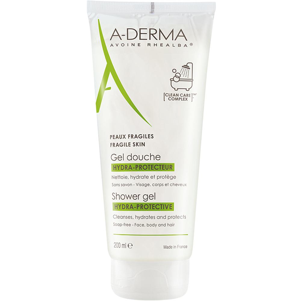 A-derma Hydra Protect Showergel 200 ml beskyttende dusjgel, Apotekfordeg, 885315