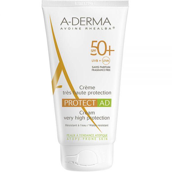 A-derma Sun Protect AD Cream SPF50+ 150 ml for tørr hud:eksemhud, Apotekfordeg, 846941