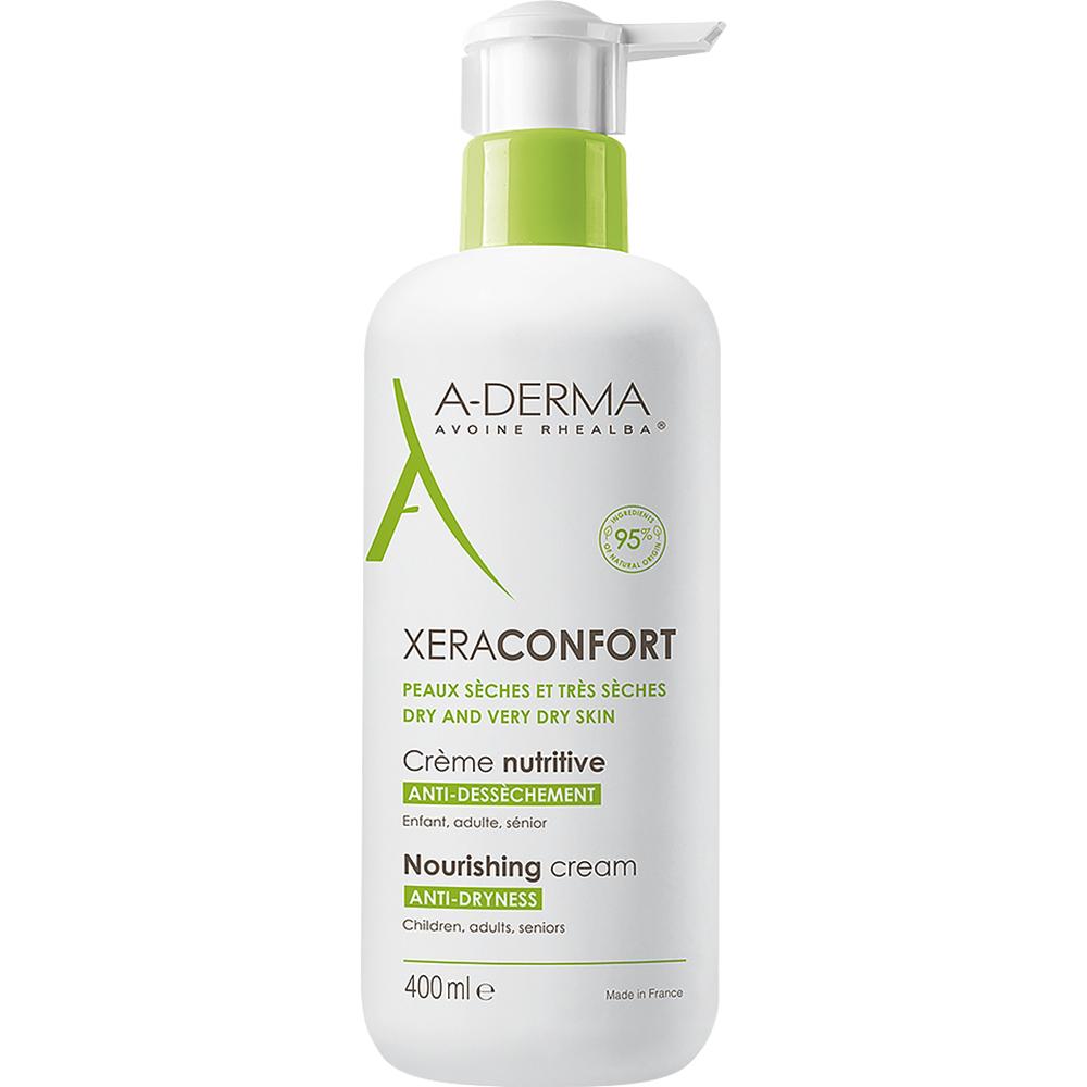A-derma Xeraconfort Fuktighetskrem 400 ml kropp- og ansiktskrem for tørr hud, Apotekfordeg, 962567