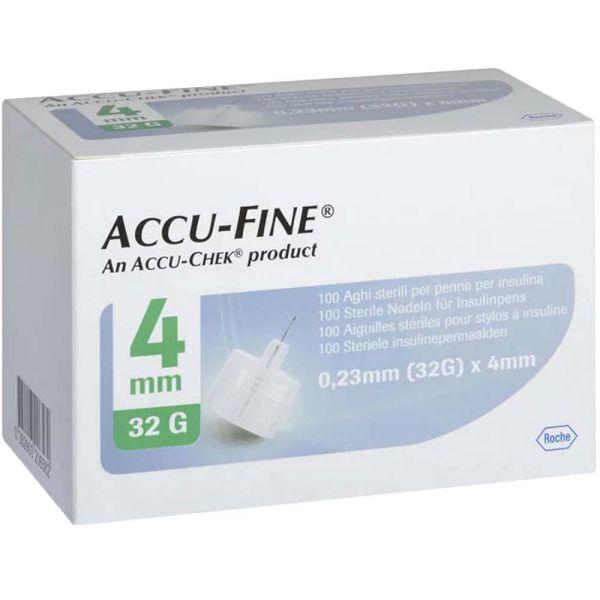 Accu-Fine pennekanyle 32G 4mm 100stk, ApotekForDeg, 912315
