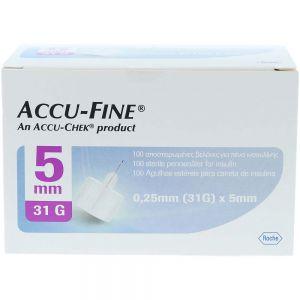 Accu-Fine pennekanyler 31G 5mm 100stk, ApotekForDeg, 924896