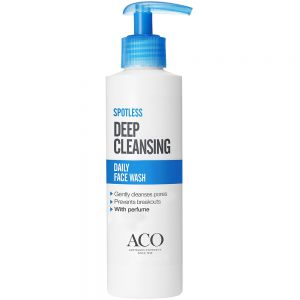 Aco spotless daily face wash ansiktsvask for fet og uren hud, 200 ml, apotekfordeg, 851463