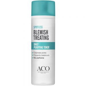 Aco spotless daily purifying toner ansiktsvann for fet og uren hud, 200 ml, apotekfordeg, 864571