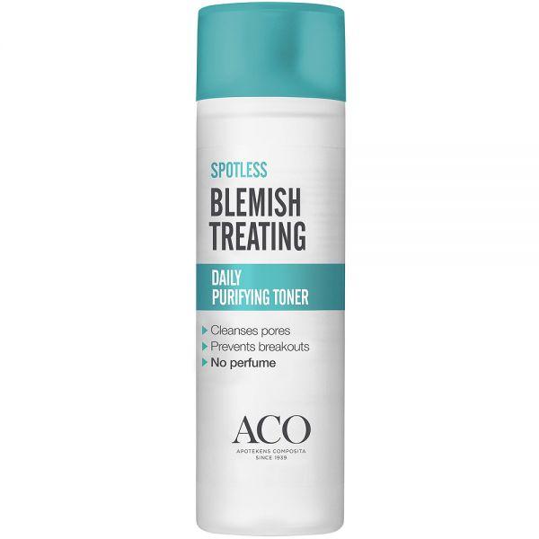 Aco spotless daily purifying toner ansiktsvann for fet og uren hud, 200 ml, apotekfordeg, 864571