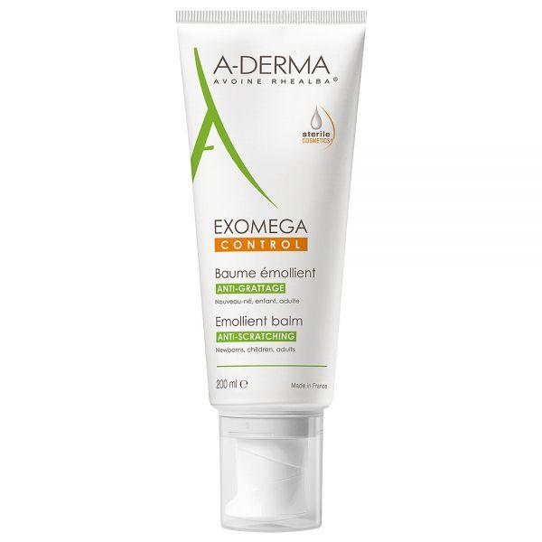 Aderma exomega control balm steril, ekstra pleie for svært tørr hud 200ml, apotekfordeg, 802633