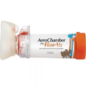AeroChamber plusflow-vu inhalasjonskammer 0-18 mnd, 1 stk, Apotekfordeg, 861155