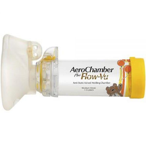 AeroChamber plusflow-vu inhalasjonskammer 1-5 mnd, 1 stk, Apotekfordeg, 967066