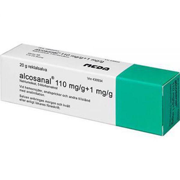 Alcos-anal Rektalsalve 20 g - mot hemoroider og analirritasjon, Apotekfordeg, 430934