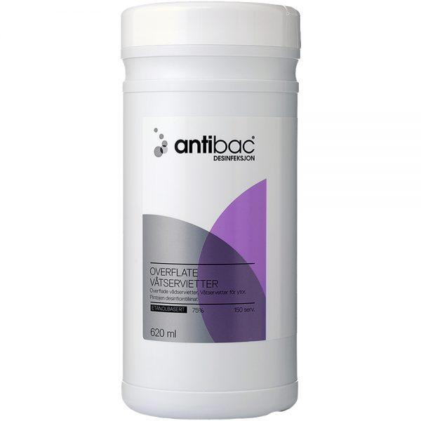 Antibac desinfiserende våtservietter til overflater, Apotekfordeg, 901930
