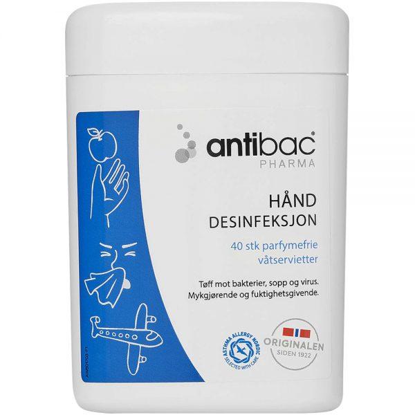 Antibac pharma 85% våtservietter hånddesinfeksjon, Apotekfordeg, 817053