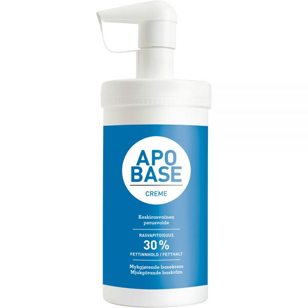 Apobase Krem m:Dispenser 440 g - intensiv mykgjørende krem, Apotekfordeg, 901738