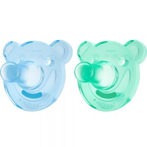Avent Soothie Smokk Baby 0-3 Mnd Blå:Grønn 2 stk - beroligende effekt, Apotekfordeg, 963070
