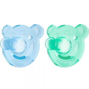 Avent Soothie Smokk Baby 3 Mnd+ Blå:Grønn 2 stk - beroligende effekt, Apotekfordeg, 885179