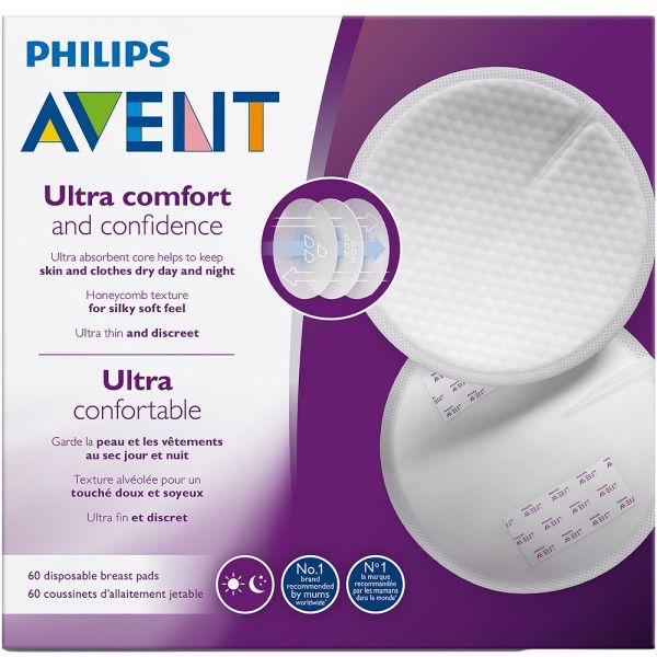 Avent Ultra Comfort Ammeinnlegg 60 stk - komfortabel og absorberende, Apotekfordeg, 896414