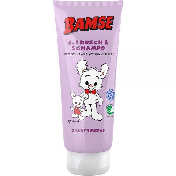 Bamse 2-i-1 Dusj & Sjampo 200 ml - uten parfyme for barn, Apotekfordeg, 992714
