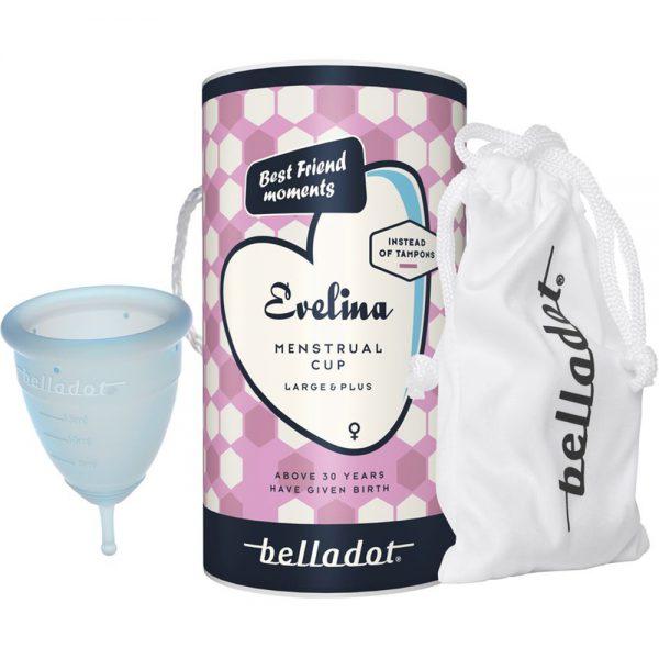 Belladot Evelina Menstrual Cup Large & Plus 1 stk, gjenbrukbar mensbeskyttelse, Apotekfordeg, 912827