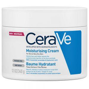 CeraVe Moisturising Cream, kroppskrem for tørr til meget tørr hud, 340g, apotekfordeg, 993067
