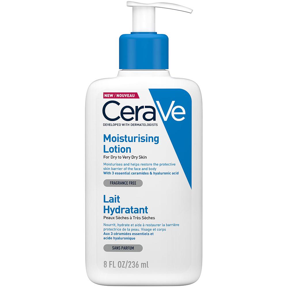 Cerave moisturising lotion, fuktighetslotion for tørr til svært tørr hud, 236 ml, apotekfordeg, 887863