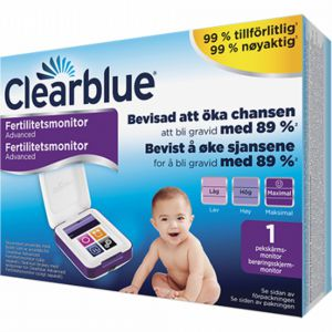 Clearblue Advanced Fertilitetsmonitor 1 stk kartlegging av fertilitetsperiode, Apotekfordeg, 835156