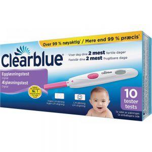 Clearblue Digital Eggløsningstest 10 stk påviser fertile dager, Apotekfordeg, 809034