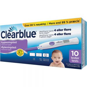 Clearblue Eggløsningstest Advanced Digital 10 stk for planlegging av graviditet, Apotekfordeg, 855758