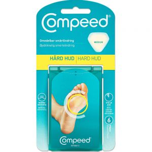 Compeed plaster mot hard hud under foten, medium, 6stk, ApotekForDeg, 812883