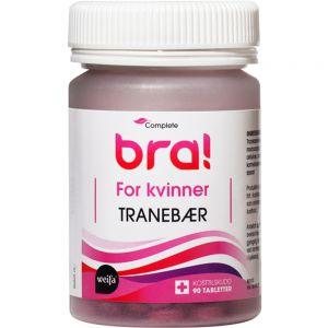 Complete Bra Tranebær For Kvinner Tabletter 90 stk - forebygger urinveisinfeksjon, Apotekfordeg, 908025