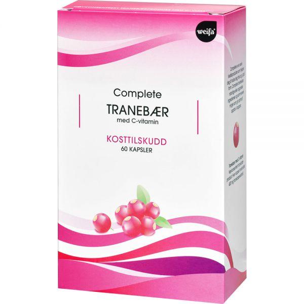Complete Tranebær Tabletter m:C-vitamin 60 stk - beskytter urinveier og celler, Apotekfordeg, 906053
