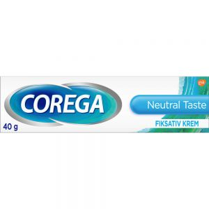 Corega Protesekrem Nøytral Smak 40 g - ekstra kraftig festeevne, Apotekfordeg, 902060