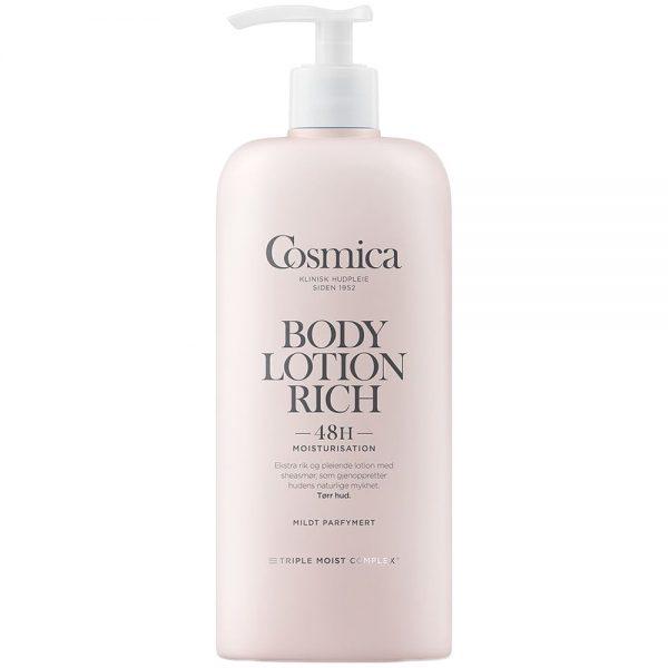 Cosmica body lotion rich for tørr hud med parfyme, 400 ml, ApotekForDeg, 997459