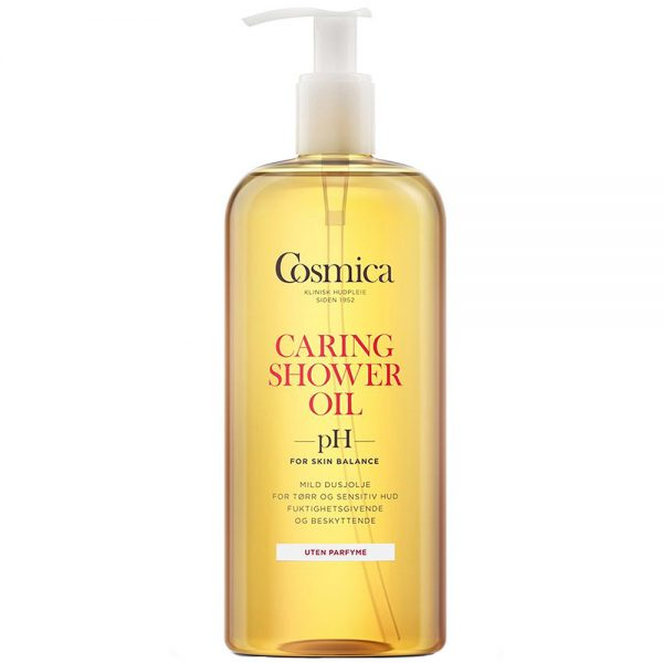 Cosmica caring shower oil, mild dusjolje uten parfyme, 400 ml, ApotekForDeg, 969966