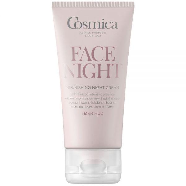 Cosmica face nourishing night cream, rik nattkrem for tørr hud, 50 ml, ApotekForDeg, 833264