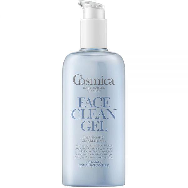 Cosmica-face-refreshing-cleansing-gel-uparfymert-rensegel-for-normalkombinasjonshud-200-ml-ApotekForDeg-886073