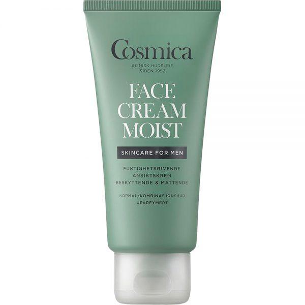 Cosmica men facecream moist fuktighetsgivende ansiktskrem uten parfyme, Apotekfordeg, 965695