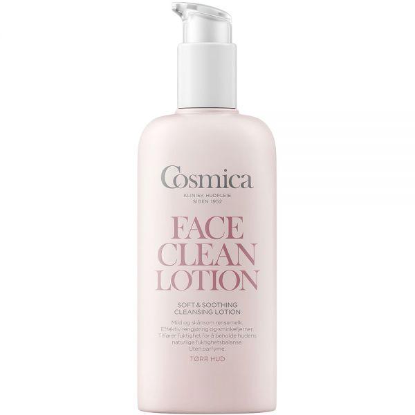Cosmica soft & soothing cleansing lotion, mild ansiktsrens for tørr hud, 200 ml, ApotekForDeg, 859382