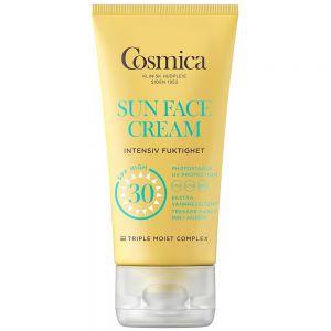 Cosmica sun face cream intensive moisture SPF20, solkrem til ansikt uten parfyme, 50 ml, ApotekForDeg, 895350