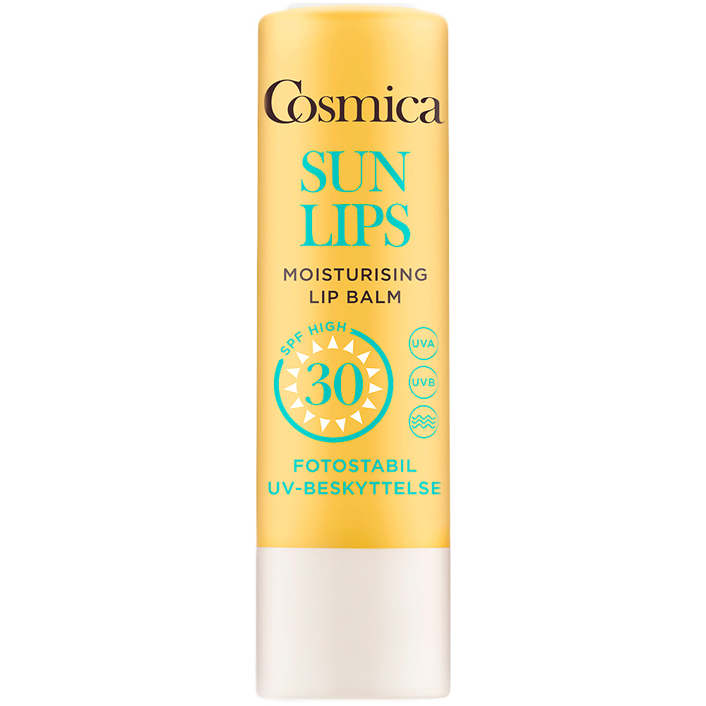 Cosmica sun lip balm SPF30, leppepomade med UVA og UVB beskyttelse, 5 g, ApotekForDeg, 820106
