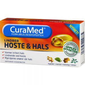 Curamed Hoste & Hals Sugetabletter 20 stk - lindrer sår hals og hoste, Apotekfordeg, 903991