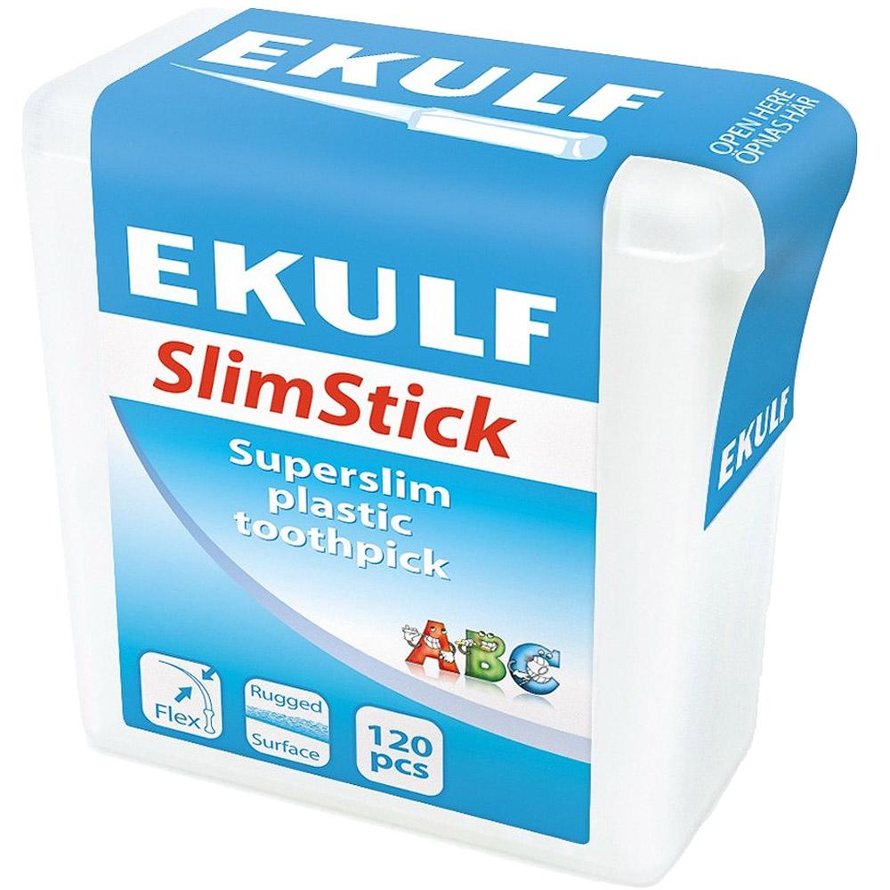 Ekulf Slimstick Tannstikkere Plast 120 stk, ApotekForDeg, 843542