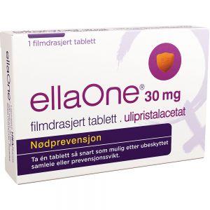 EllaOne 30 mg Tablett Angrepille 1 stk, ApotekForDeg, 94447