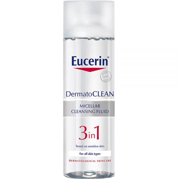 Eucerin dermatoclean 3-in-1 cleansing fluid, micellar-rensevann, 200ml, ApotekForDeg, 868444
