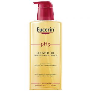 Eucerin pH5 shower oil, parfymert dusjolje for alle hudtyper, 400ml, ApotekForDeg, 856077