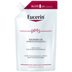 Eucerin pH5 shower oil refill, parfymert dusjolje for alle hudtyper, 400ml, ApotekForDeg, 953851