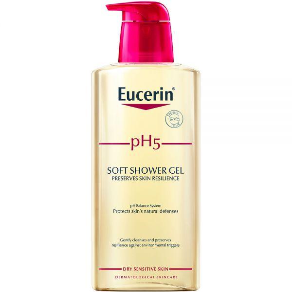 Eucerin pH5 soft shower gel, såpefri dusjsåpe, 400 ml, ApotekForDeg, 853193
