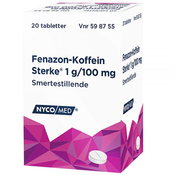 Fenazon-Koffein sterke smertestillende, Apotekfordeg, 598755