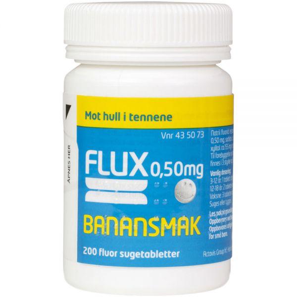 Flux 0,50 mg Sugetabletter Banan 200 stk, ApotekForDeg, 435073